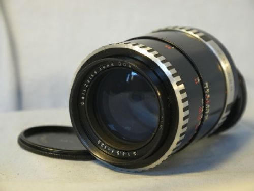 '       3.5 135mm CARL ZEISS -ZEBRA-MINT- GREAT BOKEH- ' SONNAR  M42 135MM 3.5 Prime Portrait Lens -ZEBRA-VERY NICE-DIGITAL COMP- £49.99